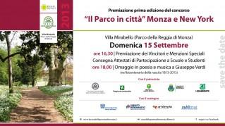 Il parco in città Monza&NY - 2013 - Premiazione