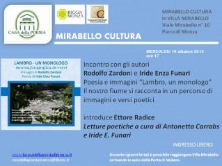 Mirabello cultura 2013 Rodolfo Zardoni - Iride Enza Funari