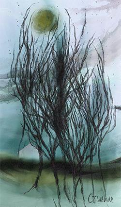 Linda Cornelius, Aurora borealis, quadro