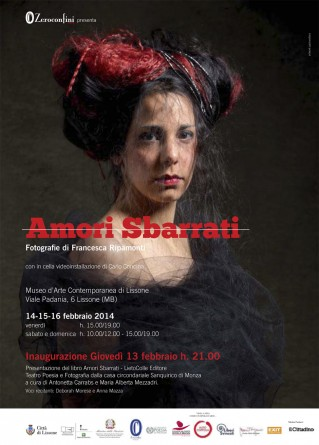 Locandina Mostra Zeroconfini Amori Sbarrati 2014