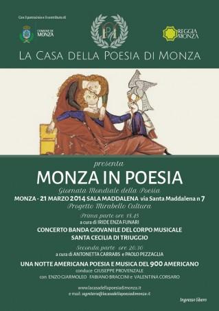 La Casa della Poesia di Monza | Monza in Poesia | 21 marzo 2014