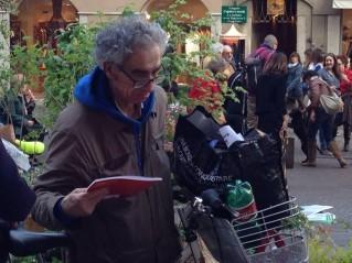 Il clochard di Monza che ama la poesia