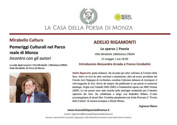 Mirabello Cultura 21 maggio 2014 Adelio Rigamonti Clicca l'immagine per scaricare la locandina in formato PDF