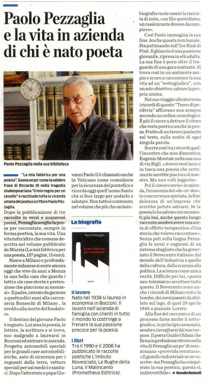 Mirabello Cultura Il Cittadino maggio 2014 Paolo Pezzaglia