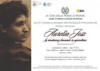 Invito per la Cwerimonia di Premiazione - Premio Letterario Aurelia Josz 2015
