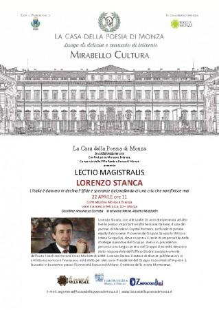 Mirabello Cultura Lectio Magistralis Lorenzo Stanca