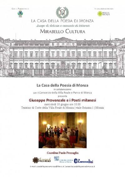Mirabello Cultura | 10 giugno 2015 | Giuseppe Provenzale e i Poeti milanesi