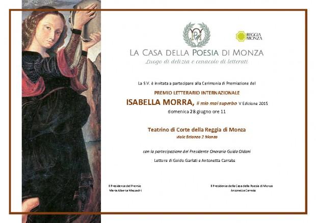 Invito Premio Isabella Morra 2015: premiazione poesie