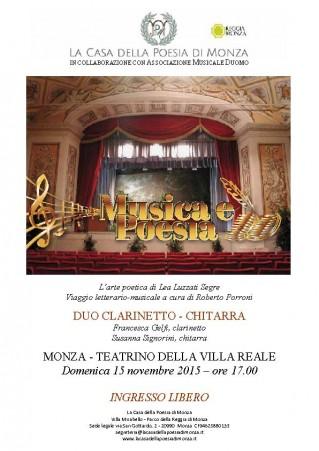 La Casa della Poesia di Monza - Musica e Poesia con Associazione Musicale Duomo