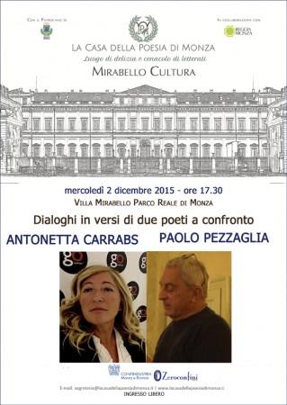 Mirabello Cultura: Duello in poesia con i versi di Carrabs e Pezzaglia
