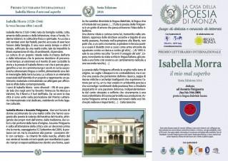 Premio Isabella Morra 2016 Bando informativo