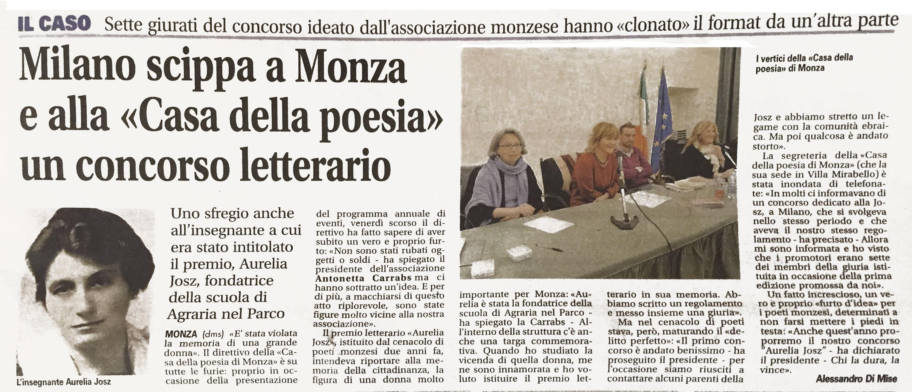 scippato concorso letterario il giornale di monza 26 On il giornale di monza