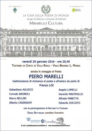 Mirabello Cultura 29.01.2016 Piero Marelli - locandina