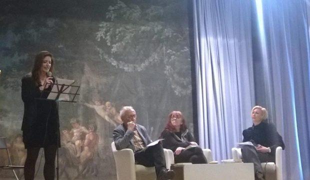 Da sinistra Laura Piazza, Gianni Turchetta, Laura Pariani e Simona De Simone