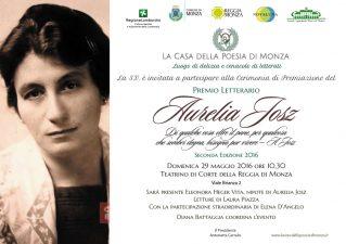 Invito alla cerimonia di premiazione del Premio Aurelia Josz 2^ ed. (2016)