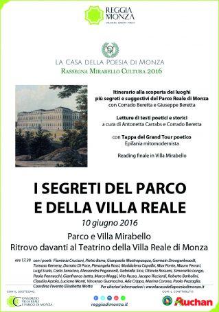 Locandina I segreti del Parco e della Villa Reale di Monza (clicca per ingrandire)
