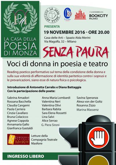 La Casa della Poesia di Monza – Loc evento SENZA PAURA