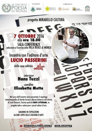 Locandina evento il Buon Tempo editore - 7 ottobre 2016 - Clicca per PDF