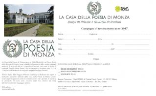 La Casa della Poesia di Monza - tesseramento-modulo di iscrizione web