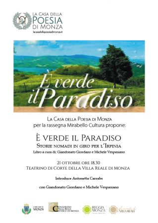 Mirabello Cultura - Presentazione libro - E' verde il paradiso 21 ott 2016 Locandina (Clicca per PDF)