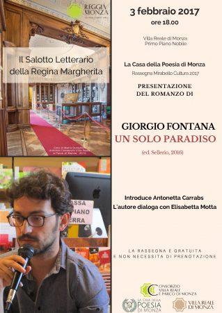 Mirabello Cultura Giorgio Fontana Un solo paradiso - Loc