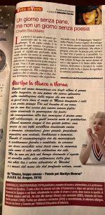 Rubrica di Poesia di Antonetta Carrabs sul Magazine ORA