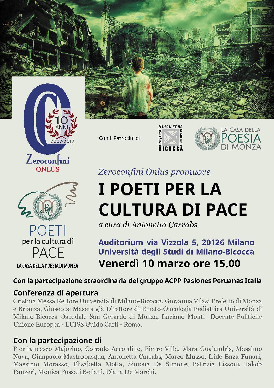 I Poeti per la cultura di Pace - Locandina