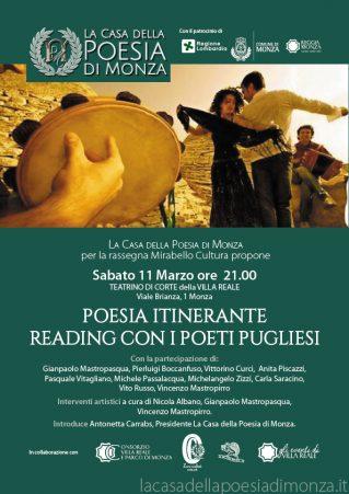 Reading con i Poeti Pugliesi - Mirabello Cultura 11.3.2017 locandina -Clicca per scaricare in PDF