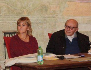 Giampiero Neri con Elisabetta Motta presso Villa Mirabello - Monza