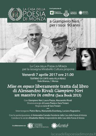 Mirabello Cultura - 7 aprile 2017 - A Giampiero Neri, per i suoi 90 anni Locandina (clicca per PDF)