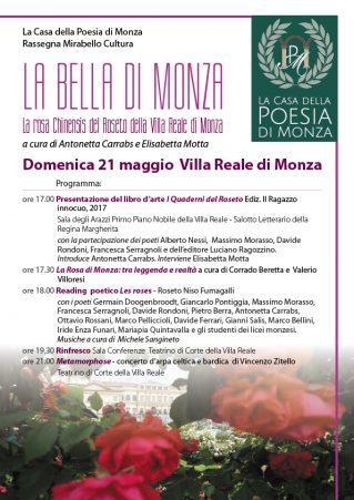 La Casa della Poesia di Monza - LA BELLA DI MONZA locandina