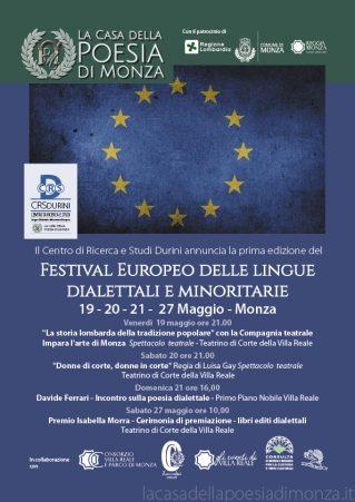 MIRABELLO CULTURA Festival Europeo delle lingue dialettali e minoritarie 2017-Locandina