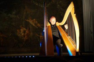 Vincenzo Zitello durante il Concerto per la Casa della Poesia di Monza presso il Teatrino della Villa Reale -2017