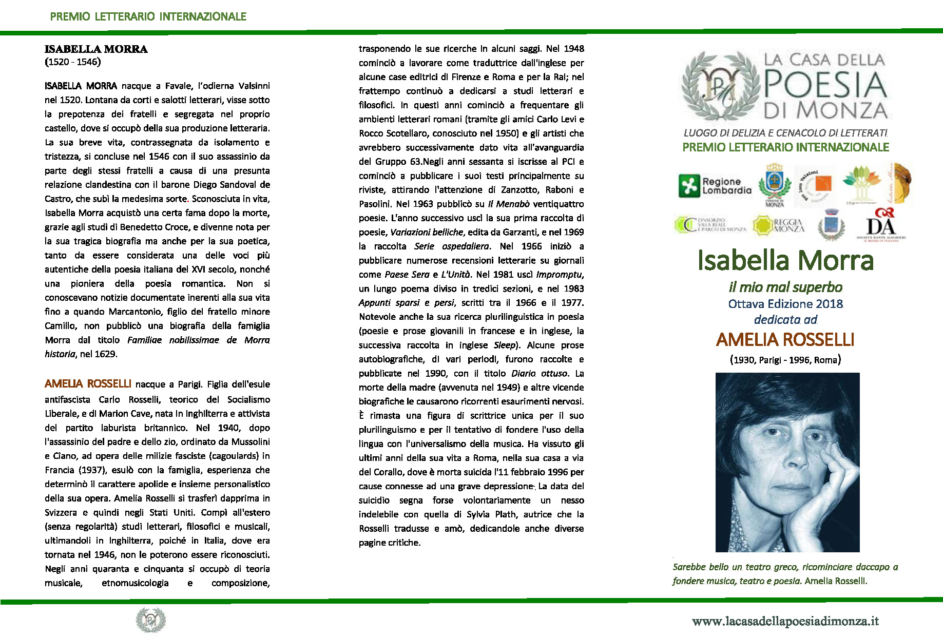Premio Isabella Morra, il mio mal superbo VIII ediz. 2018 - Clicca per PDF