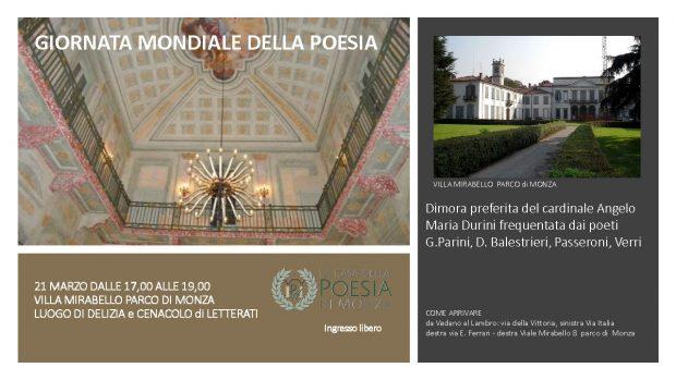 Giornata Mondiale della Poesia 21 marzo 2018 - locandina