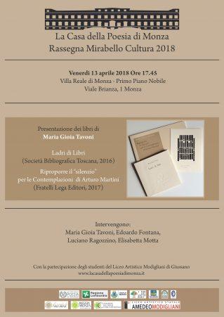 Maria Gioia Tavoni locandina. Clicca per PDF.