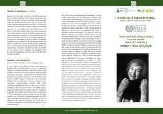 Premio di poesia Isabella Morra, il mio mal superbo XI edizione 2021