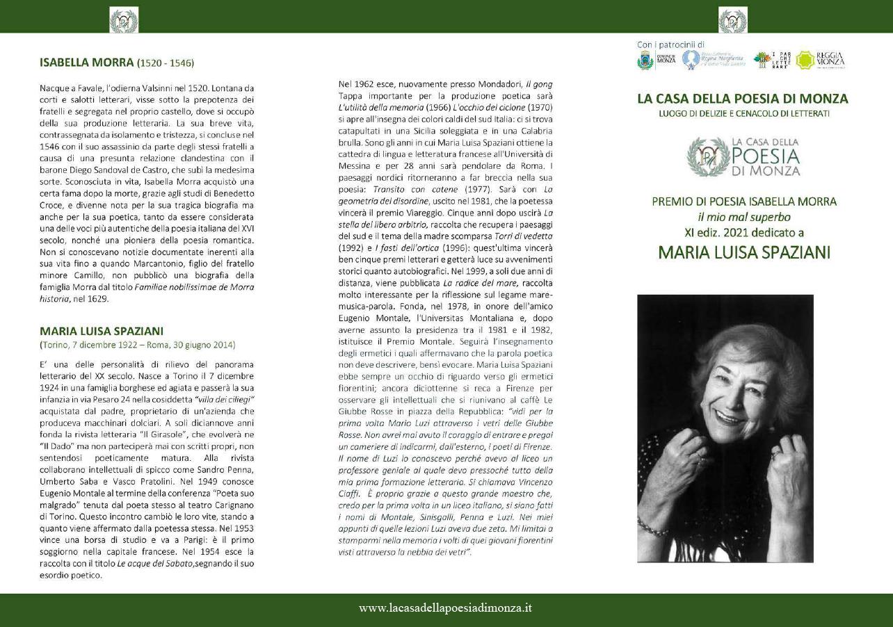 Premio Isabella Morra 2021 - locandina