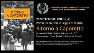 Rassegna Letteraria Mirabello Cultura - Ritorno a Caporetto di Paolo Cervone