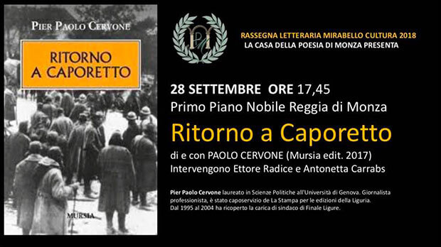 Rassegna Letteraria Mirabello Cultura - Ritorno a Caporetto di Paolo Cervone - locandina