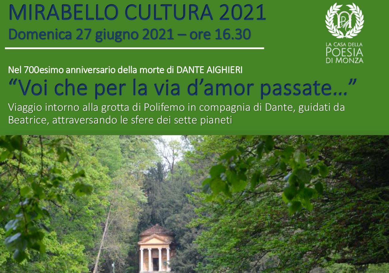 Spettacolo itinerante nel Parco La Casa della Poesia di Monza - locandina