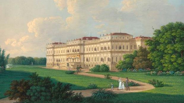 Passeggiata Rossiniana musicale e poetica nei Giardini Reali della Reggia di Monza - locandina